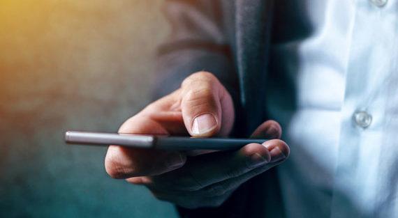 Hand with smartphone -career respondi mobile