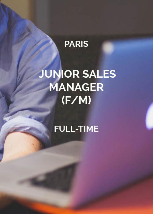 Junior Sales Manager Paris