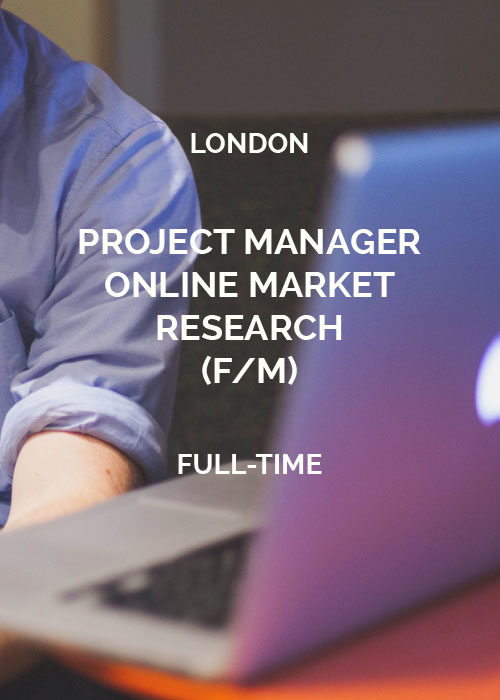 PROJECT MANAGER Online Market Research London