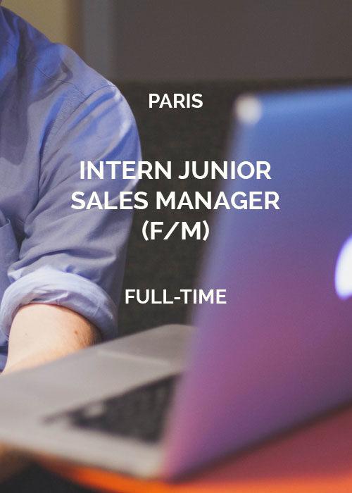 Intern Junior Sales Manager Paris
