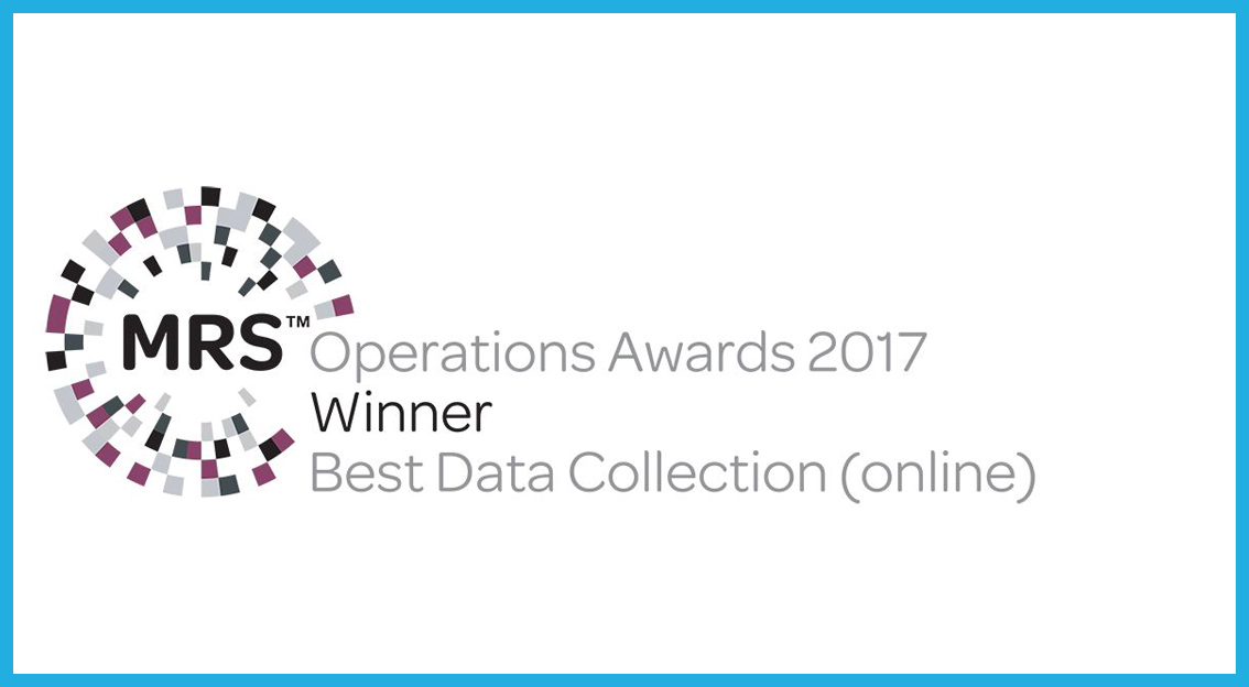 respondi wins the MRS Operations Award in in the category Best Data Collection (online)!