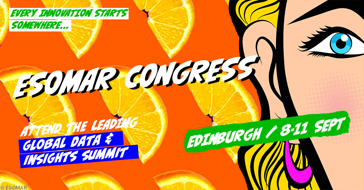 Social Media and the Disruption of Digital Democracy – respondi au ESOMAR Congress 2019