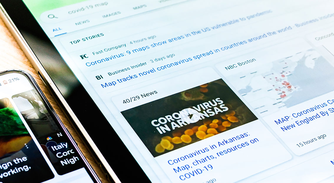 Coronavirus: A quoi s'intéressent les gens sur les sites de news?