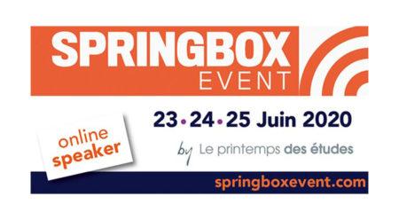 Présentation en ligne de nos derniers résultats de recherche – respondi au SpringBox Event !