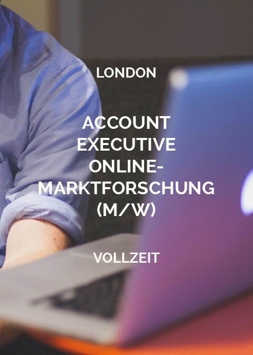 Account Executive Online-Marktforschung London