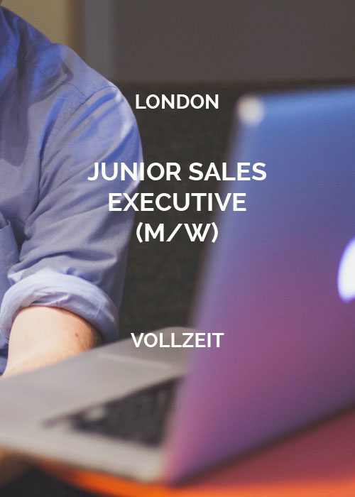 Junior Sales Executive London