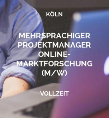 MEHRSPRACHIGE(R) PROJEKTMANAGER(IN) ONLINE-MARKTFORSCHUNG (W/M) Köln