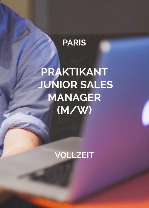 Praktikant Junior Sales Manager Paris