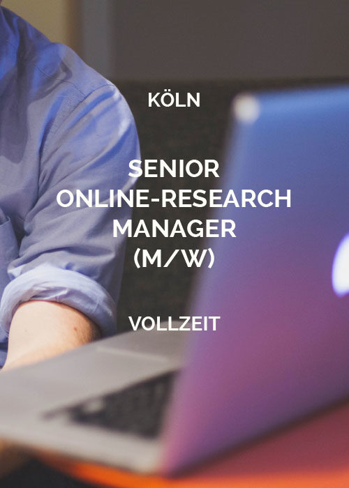 Senior Online-Research Manager